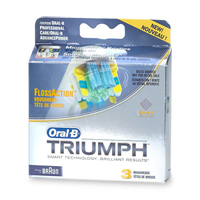 ORAL-B TRIUMPH, FLOSSACTION BRUSHHEAD EB25-3